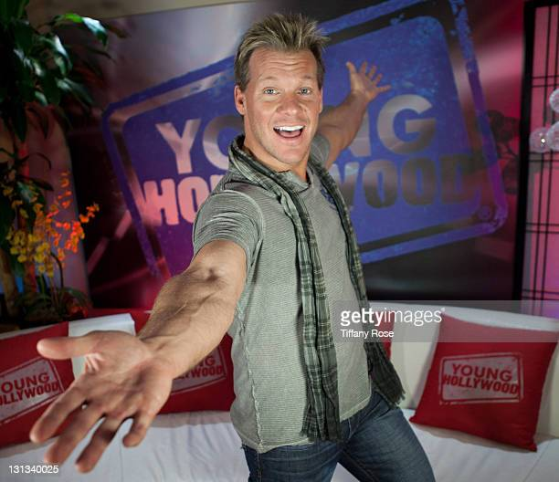 Pro Wrestler Chris Jericho visits YoungHollywoodcom at the Young Hollywood Studio on April 27 2011 in Los Angeles California