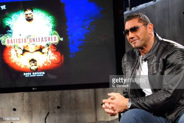 WWE Pro Wrestler Dave Batista visits fuse's The Sauce at fuse studios on October 29 2007 in New York City