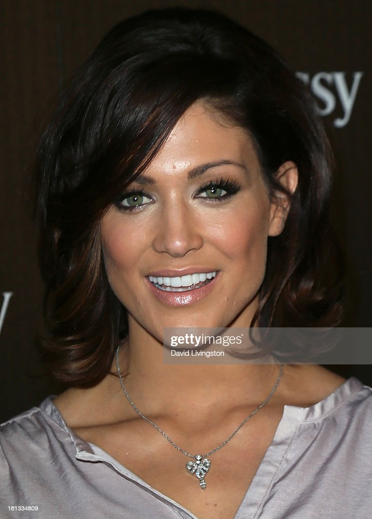 Pro wrestler Eve Torres attends the Hennessy Toasts Achievements In Music event with GRAMMY Host LL Cool J and Mark Burnett at The Bazaar at the SLS Hotel Beverly Hills on February 9, 2013 in Los Angeles, California.