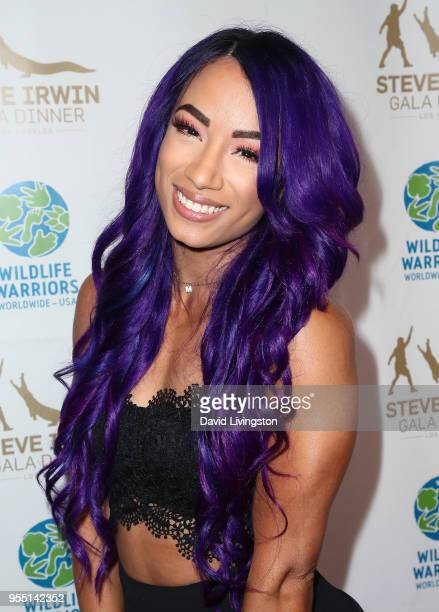 Pro wrestler Sasha Banks attends the Steve Irwin Gala Dinner 2018 at SLS Hotel on May 5 2018 in Beverly Hills California