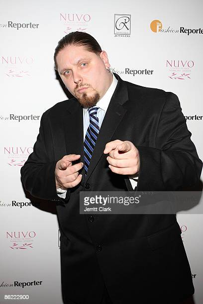 Pro Wrestler/Actor/Author Brimstone attends the 2nd annual Fashion and Football event at the Equinox Space on April 25 2009 in New York City