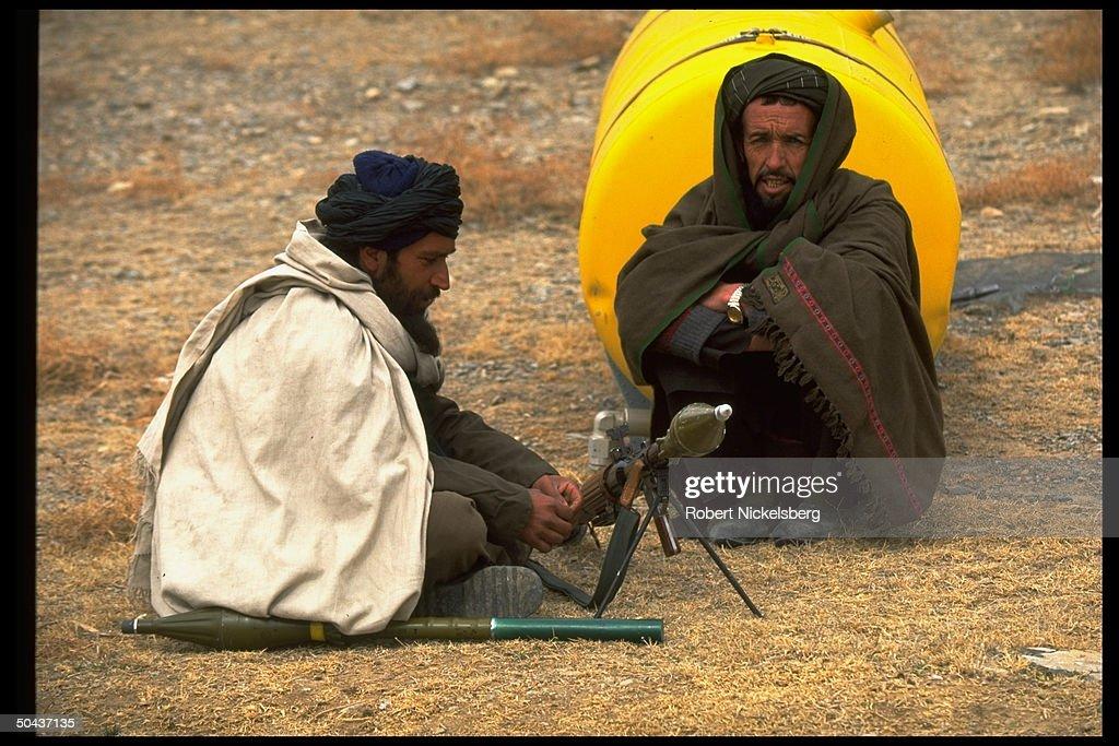 Prob. Taliban fighters w. RPG @ Islamic : News Photo