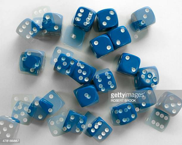 probability and randomness - disintegration stock photos and pictures