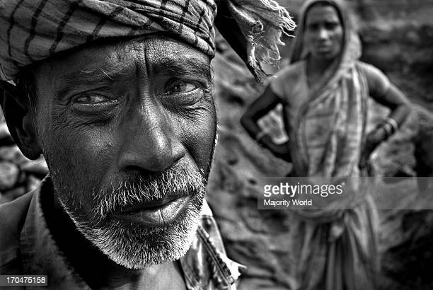 Probad Das 67 and Priti Rani Das 39 are couple working together as stone laborers They are working here for four years They have two daughters They...