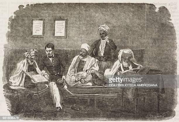 Probate court for unclaimed estates Algeria illustration from Il Giornale Illustrato Year 2 No 21 May 27June 2 1865