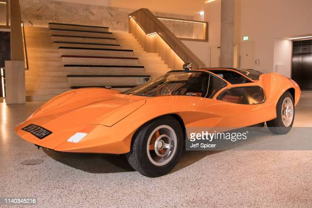 Probe 16 car from the film A Clockwork Orange at The Design Museum on April 04 2019 in London United Kingdom