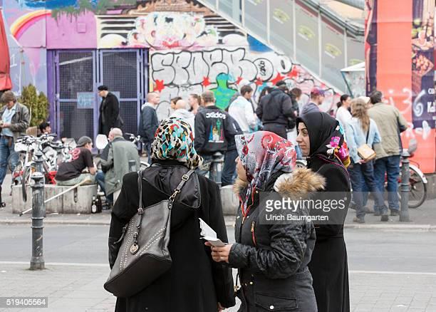 Problem quarters Kottbusser Tor in BerlinKreuzberg Turkish woman in the Oranienstrasse