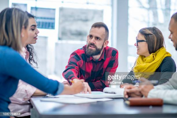 problem solving in the workplace - debate stock pictures, royalty-free photos & images