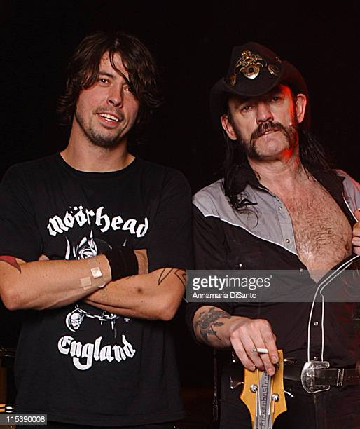 Probot featuring Dave Grohl Lemmy and Wino during Probot Photo Session featuring Dave Grohl Lemmy Wino at Hollywood Studio in Hollywood CA United...