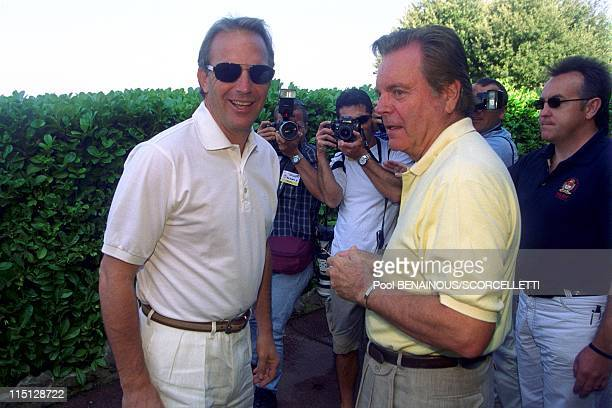 ProCelebrety golf at Monte Carlos golf club in Monaco City Monaco on September 09 1999 Kevin Costner Robert Wagner