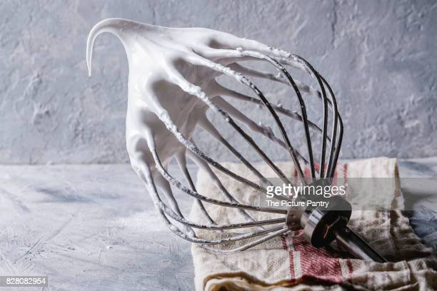 process of cooking meringue - meringue stock pictures, royalty-free photos & images