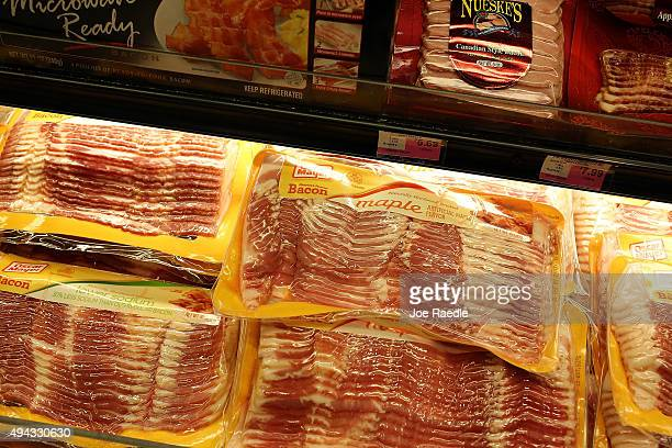 Processed meats are displayed in a grocery store on October 26 2015 in Miami Florida A report released today by the World Health Organisation's...