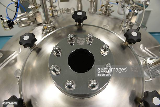 Processing tanks used in the purification process of producing Privigen liquid intravenous immunoglobulin are tested prior to production in the...