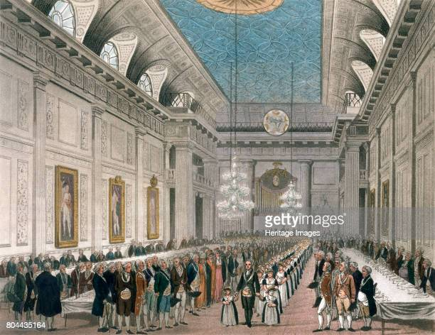 Procession at Freemasons' Hall Queen Street London c17801812 The procession on the occasion of the Annual Dinner for young girls assisted by the...