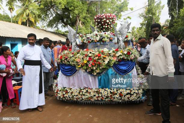 Procession at the Shrine of Our Lady of Madhu during the Feast of Our Lady of Madhu in Mannar Sri Lanka With a history of over 400 years this shrine...
