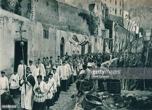 Procession Capri Italy' from 'Italien in Bildern' by Eugen Poppel 1927