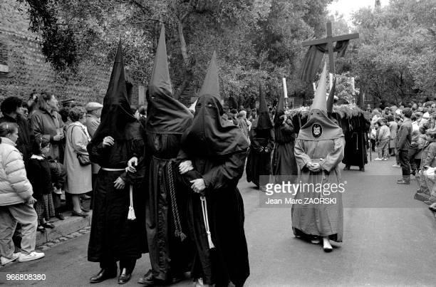 Procession de la Sanch une fête traditionnelle religieuse organisée chaque vendredi saint depuis 1416 par l'archiconfrérie de la Sanch à Perpignan en...