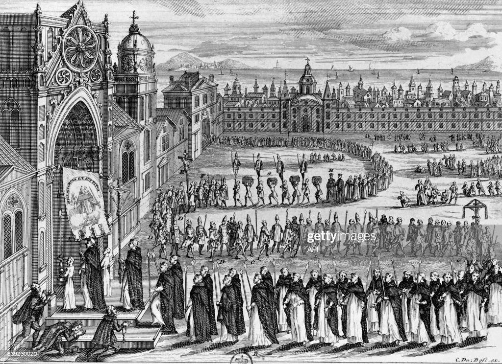 Procession de l'Inquisition à Goa : News Photo