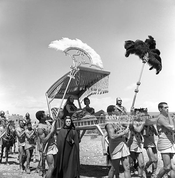 A procession during the filming of Sodom and Gomorrah Italy 1961