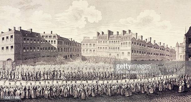 Procession from Notre Dame to Saint Louis to mark the opening of the StatesGeneral May 4 1789 France 18th century