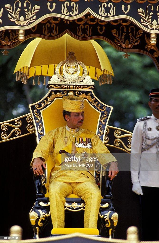 25 Years Under Reign Of Sultan Hassanal /Bru In Brunei Darussalam On October 01, 1992. : ニュース写真