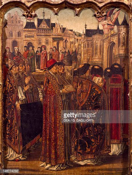 Procession in front of a cathedral by Miguel Ximenez Madrid Museo Del Prado