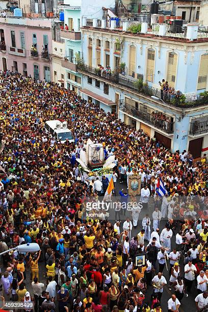 procession in honour of saint cobre - cuba - traditional musician stock photos and pictures