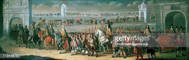 Procession of Charles II between the Tower of London and Westminster 22 April 1661, on the eve of his coronation: 1662. Dirk Stoop Dutch painter and...
