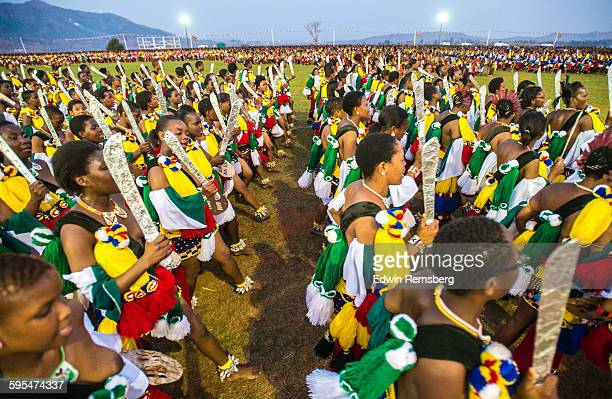 procession of colorful costumes - reed dance stock pictures, royalty-free photos & images