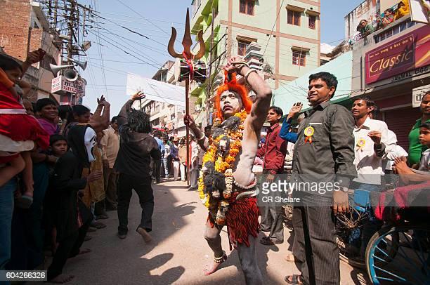 Procession of Hindu Festival Maha Shivaratri at Varanasi, Uttar Pradesh, India.