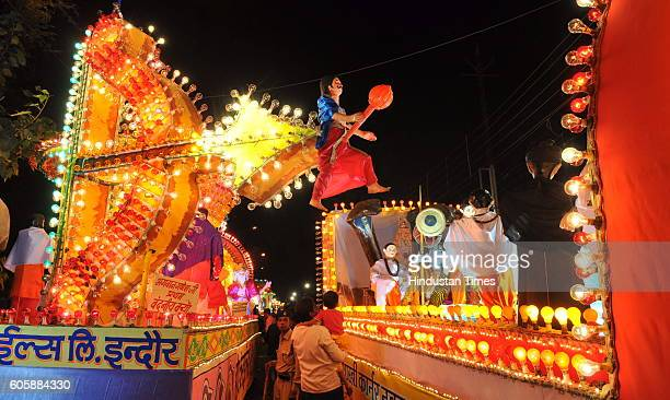 A procession of tableaus is carried out each year on the occasion of Anant Chaturdashi wherein Indore mills the IMC and IDA display their tableaus...