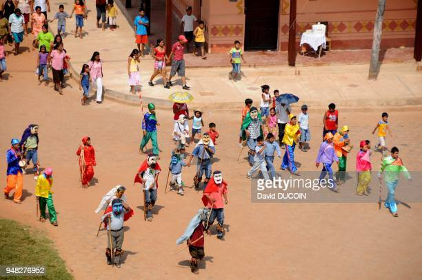 Procession Of The Abuelos De La Alcaldia Indigna De San Jos De Chiquitos During The Patronal Day Chiquitania Santa Cruz Province Bolivia
