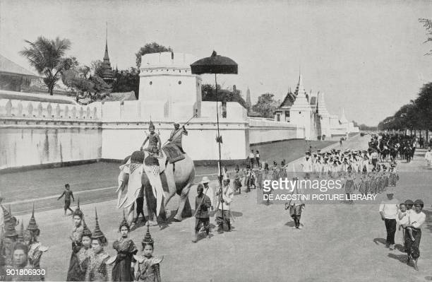 Procession of the Mock King Thailand from L'Illustrazione Italiana Year L No 32 August 12 1923