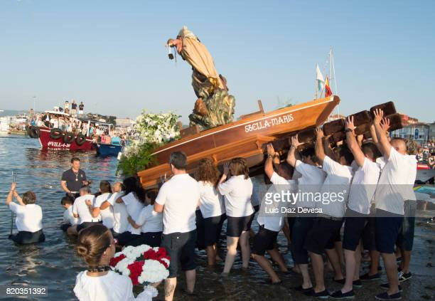 Procession of the Virgin of Carmen in O Grove (Pontevedra - Spain)