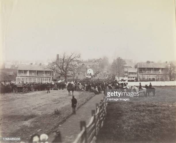 Procession of Troops and Civilians on Way to Dedication of Soldiers' National Cemetery, Gettysburg, Pennsylvania, November 19, 1863. Formerly...