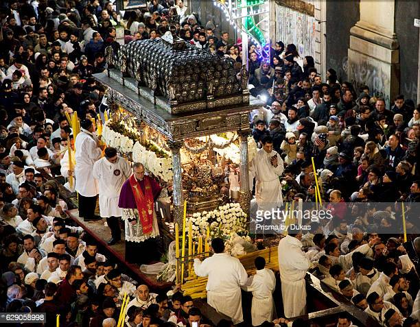 Procession St Agatha Celebration Catania Sicily Italy