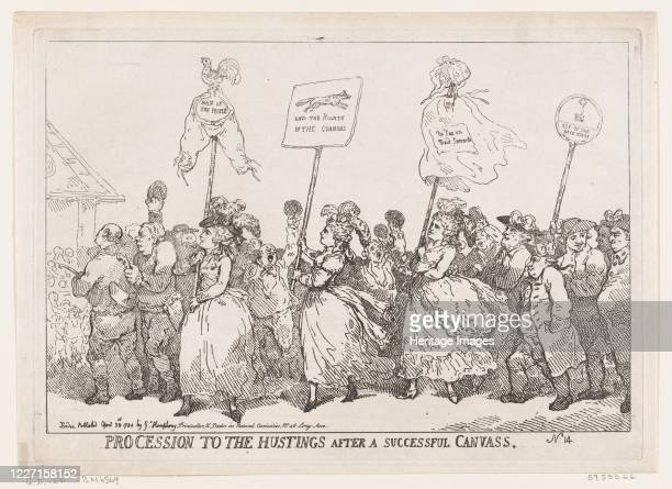 Procession to The Hustings After A Successful Canvass April 30 1784 Artist Thomas Rowlandson