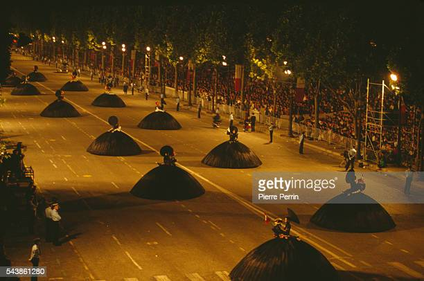 Processions take place along the Champs Elysees to mark the Bicentenary celebrations of the French Revolution The spectacle was the brainchild of...