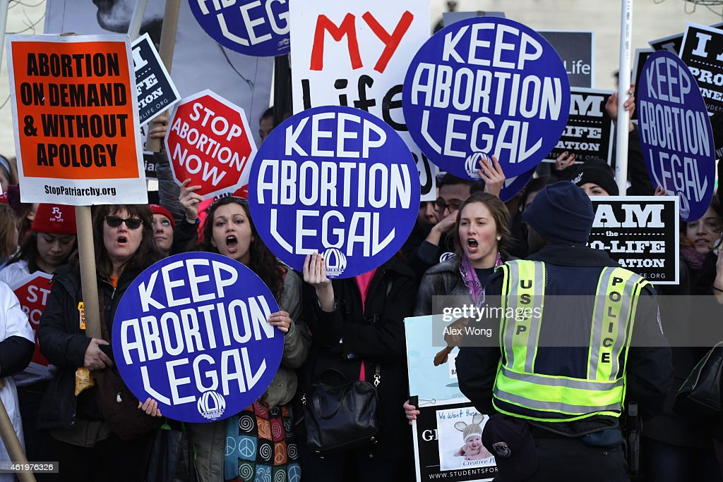 Annual March For Life Protests 1973 Roe v. Wade Ruling In Washington : News Photo