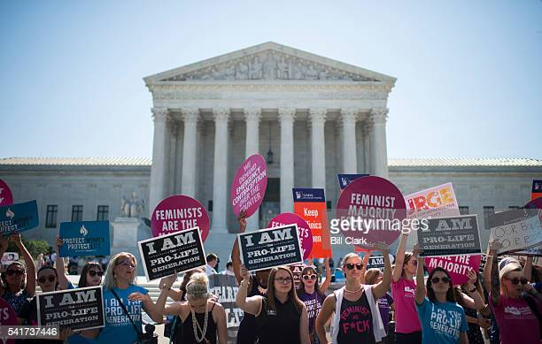Prochoice and prolife demonstrators rally outside of the US Supreme Court on Monday morning June 20 2016 The court is expected to hand down their...