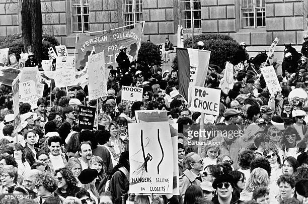 Prochoice campaigners at a March For Women's Equality in Washington DC 9th July 1989