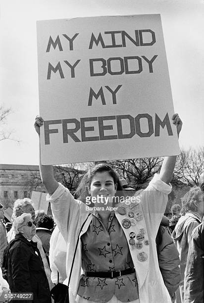 Prochoice campaigners at a National March For Women's Lives in Washington DC 9th March 1986