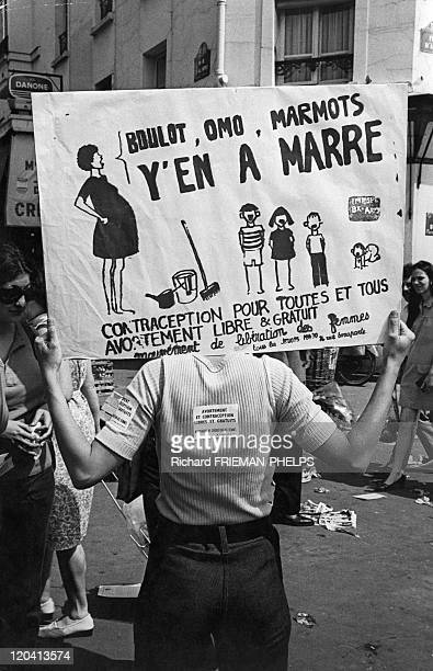 ProChoice Demonstration In Paris France In 1972 Prochoice and contraception demonstration