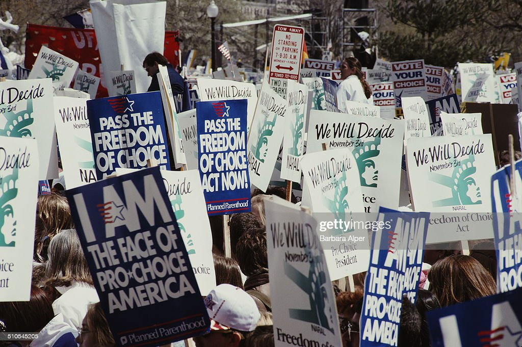 A pro-choice rally in Washington, DC, prior to the Freedom of Choice Act, 6th April 1992.