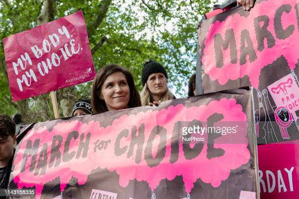 Pro-choice supporters stage a demonstration in Parliament Square to campaign for women's reproductive rights, legalisation of abortion in Northern...