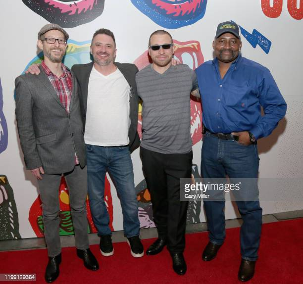Proclaim Justice Co-founders Jason Baldwin , John Hardin, exonerees Daniel Villegas and Tim Howard attend the Voices For Justice fundraiser...