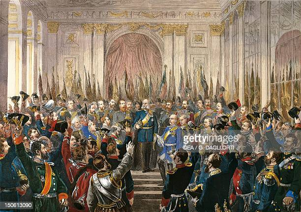 Proclaimation of the German Empire at Versailles January 18 1871 FrancoPrussian War France 19th century