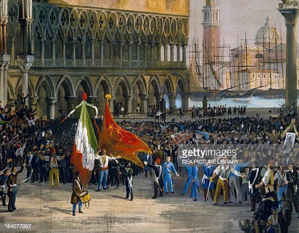 Proclamation of the Republic of San Marco March 22 by Lattanzio Querena Detail Venezia Museo Del Risorgimento E Dell'Ottocento Veneziano