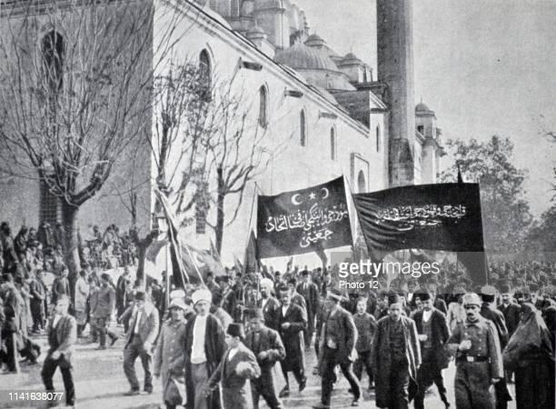 Proclamation of War World War One Constantinople Turkey