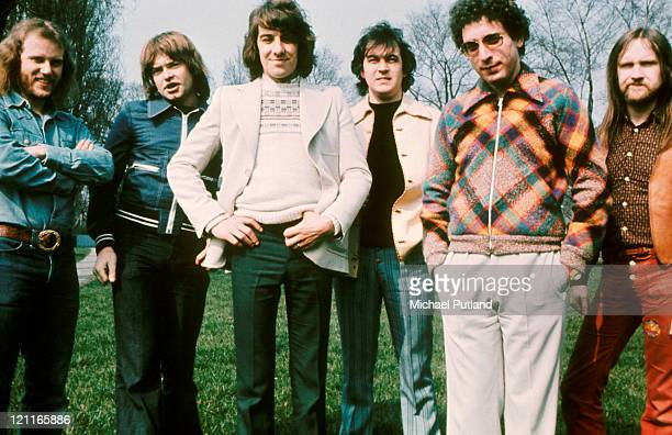 Procol Harum group portrait Gary Brooker second from right 1973